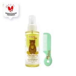 Tropee Bebe - Minyak Kemiri (Candlenut Oil) 100ml Set Sisir