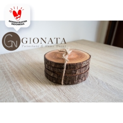 Wooden Coaster/Wood Slice/Potongan Kayu Decor/Alas Cangkir