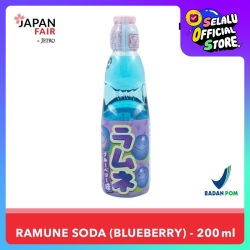 Soft Drink Hata Ramune Bluebrry 200 ml Minuman Jepang