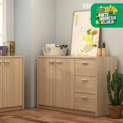 Pro Design Volta Bufet Dengan 2 Pintu 3 Laci