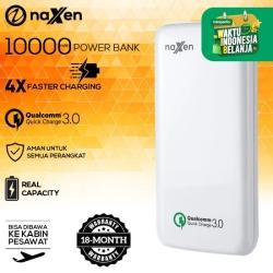 Naxen Power Bank Real Capacity 10000mAh 18W Quick Charger 3.0 Qualcomm