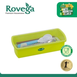 Rovega Kotak Sendok Premium Cutlery Box CHS-1018 (Food Grade, HIJAU)