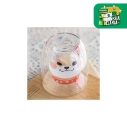 UCHII Akita Series Shiro Mug   Double Wall Glass Milk Cup Coffee Tea