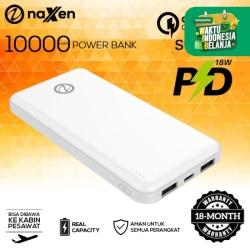 Powerbank Naxen 10000mAh Type C Fast Charging Simplicity