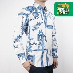 Odza Classic Kemeja Batik Slimfit Modern Pria Lengan Panjang Abley