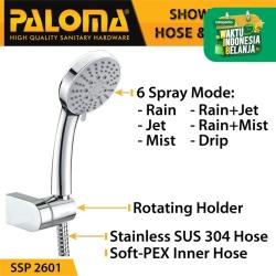 PALOMA SSP 2601 Shower Set Handshower Mandi Hand Head Kepala Air Paket