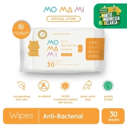 "MoMaMi Antibacterial Wipes 30"""