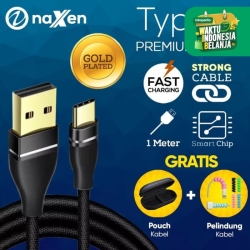 Naxen Premium Nylon Cable Type C USB Cable Gold Plated Kabel 2.4A