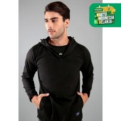 Half Zipp Hood Jacket CELCIUS Rush B3084R Hitam