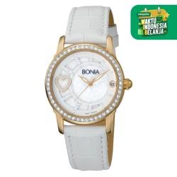 Bonia B10014-2259S Jam Tangan Wanita - White Gold Swarovski Analog