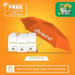 FibreFirst Three Weeks Supply Get Free Umbrella