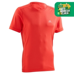 Kalenji Kaos Lari Dryfit Pria Merah Decathlon