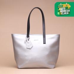 Tas Wanita Tote Silvertote Indah Tote Bag Silver Black