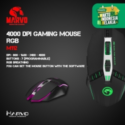 Mouse Gaming Marvo M112 - 4000 DPI Gaming Mouse