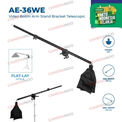 Extension Arm AE 36WE Softbox dan Reflector Stand Boom Arm Stand Bar