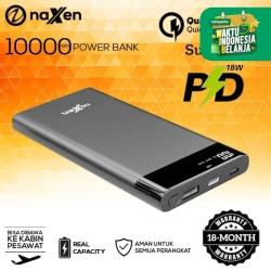 Naxen Powerbank Vigo 10.000mAh LED Display Quick Charger 3.0 + PD 10W