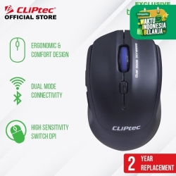 Mouse Wireless Dual Mode Optical 2400 Dpi CLIPtec RZS781 Exclusive