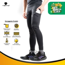 Tiento Celana Legging Evolution Long Pants with Hidden Pocket Men