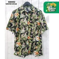 FortKlass Kemeja Hawai Pantai Pria Lengan Pendek Kasual BALI WINTER