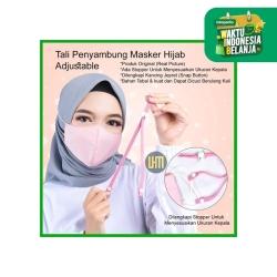 Tali Penyambung Masker Untuk Hijab dengan Stopper Tali Kancing Jepret