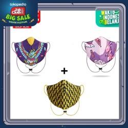Masker 3 Ply Indonesia Banget Beli 2 Masker Free 1 Masker