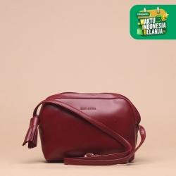 Tas Selempang Wanita Silvertote Zarah N2 Sling Bag Red
