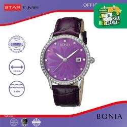 [original] Bonia B10020-2307S Jam Tangan Wanita Leather Purple