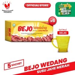 Bejo Susu Jahe Merah (SUJAMER) 6 Pack ( 30 Sachet ) FREE Gelas