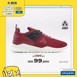 Aerostreet 40-43 Toyamaki Maroon - Sepatu Sneakers Sport Casual Pria