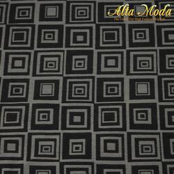 Jacquard Kotak 3D Abu Hitam (Alta Moda)