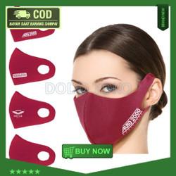 Bisa COD Masker Kain Scuba Custom CST 872 (Min. Order 50pcs) Garansi