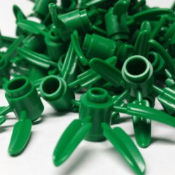 Lego 4114348 Green Bamboo Leaves 3x3 Part