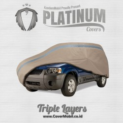 Platinum Cover Mobil Custom for All Vehicles (Triple Layers/ 3 Lapis)