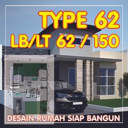 Gambar Desain Rumah TYPE 63 - Gambar Rumahh Siap Bangun & Siap Pakai