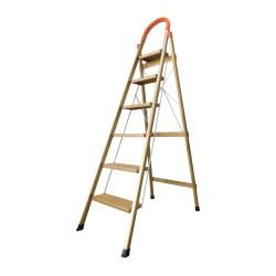 Ladder Tangga Lipat KMH0306K 6 Step Gold Bentuk A 1.9 Meter Aluminium