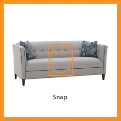 Ridente | Sofa Minimalis Custom 2 Seater Tipe Snap