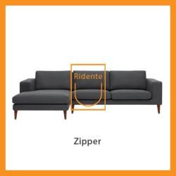Ridente | Sofa L Minimalis Custom Tipe Zipper