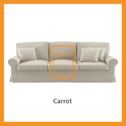 Ridente | Sofa Minimalis Custom 3 Seater Tipe Carrot