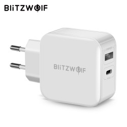 BlitzWolf BW-S11 30W Type-C Charger PD/QC3.0 2.4A Dual USB
