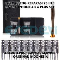 TORX OBENG REPARASI 25 IN 1 UNTUK IPHONE 4 5 6 PLUS SET KD-002668