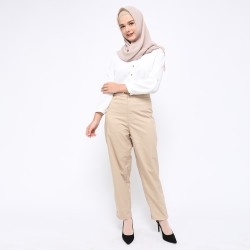 Fey Attire - BELIA Slim Fit Pants - Khaki
