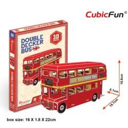 CUBICFUN Double Decker Bus Mini S3018h - 3D Puzzle