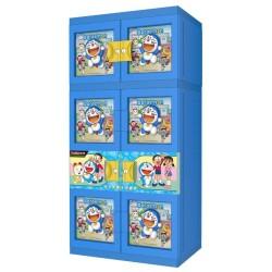 Lemari Gantung Baju Plastik Naiba Doraemon Boneka Timbul/3D