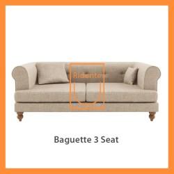 Ridente | Sofa Minimalis Custom 3 Seater Tipe Baguette
