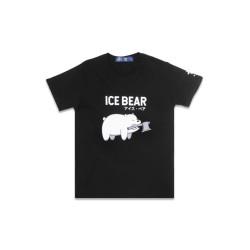 Third Day MTD79F ice bear mono we bare bear bk T-shirt hitam