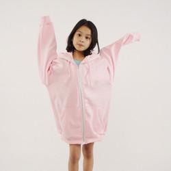 Hoodieku Kids Hoodie Zipper Baby Pink Perempuan