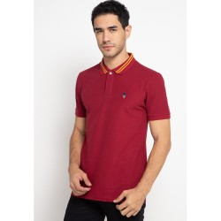 Skelly Polo Shirt Pria Guardian Polo T1 Maroon