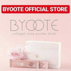 byoote collagen powder glutathione whitening powder drink 16 sachet