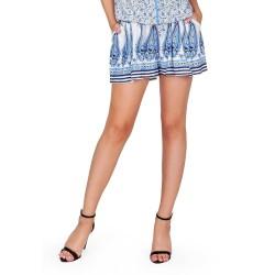 SJO Girly Short White Print Short Pants