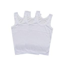 WakaKids Kaos Dalam Anak Bayi Singlet Putih Motif Jala Vench